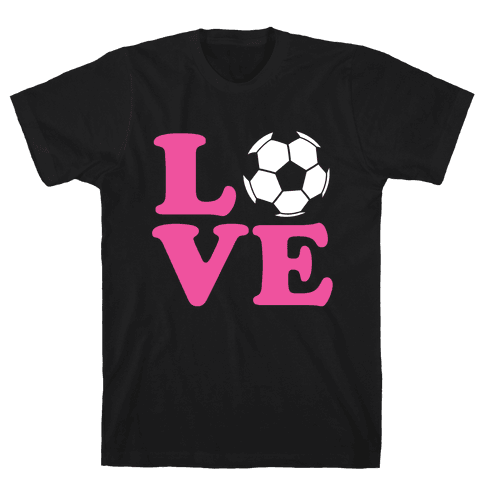 Love Soccer Mens T-Shirt