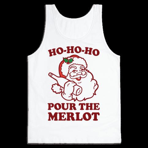 Ho-Ho-Ho Pour The Merlot Tank Top