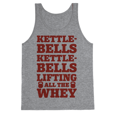 Kettlebells Kettlebells Lifting All The Whey Tank Top