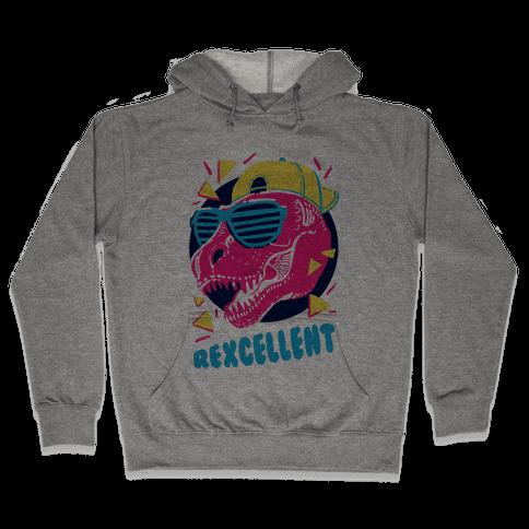 T-Rexcellent 90's Dinosaur Tyrannosaurus Hooded Sweatshirt