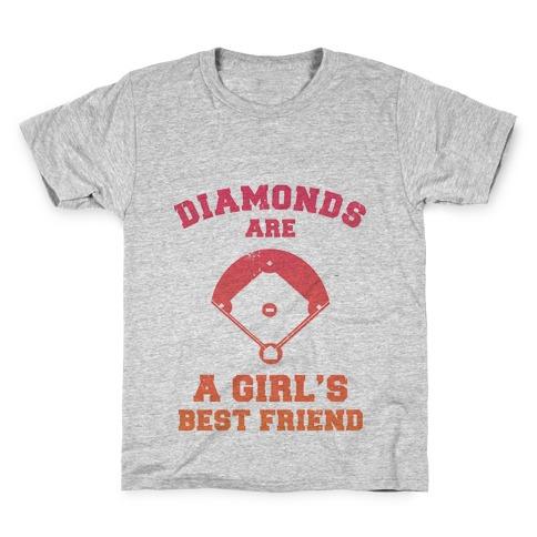 Diamonds are a Girls Best Friend (baseball shirt) Kids T-Shirt