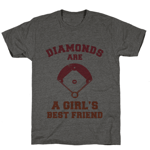Diamonds are a Girls Best Friend (baseball shirt) Mens T-Shirt