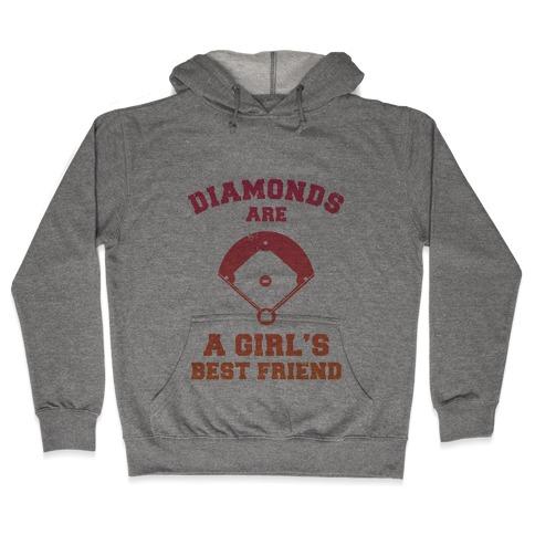 Diamonds are a Girls Best Friend (baseball shirt) Hooded Sweatshirt