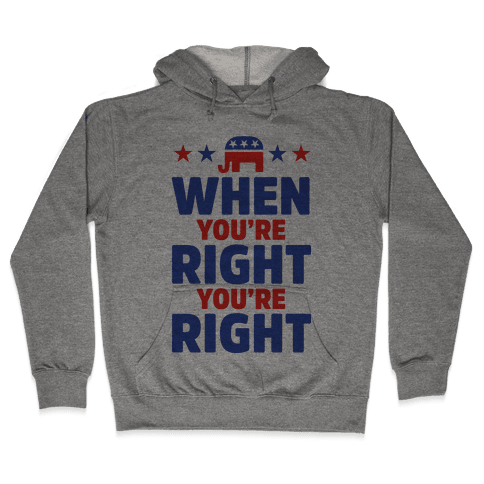 When You're Right You're Right Hooded Sweatshirt