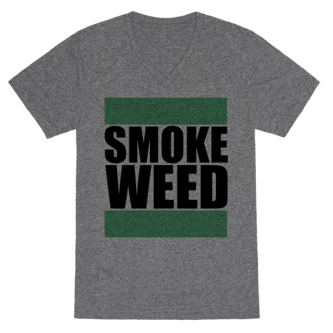 Smoke Weed V-Neck Tee Shirt