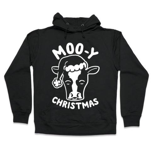 Moo-y Christmas Hooded Sweatshirt