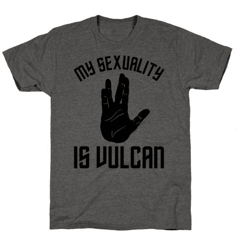 My Sexuality Is Vulcan Mens T-Shirt