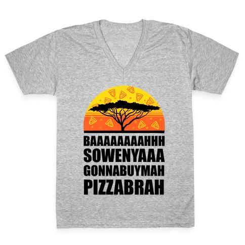 Gonna Buy Mah Pizza Brah V-Neck Tee Shirt