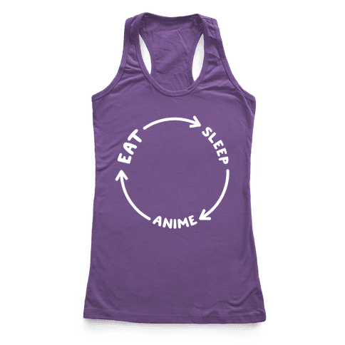 Eat Sleep Anime Repeat Racerback Tank Top