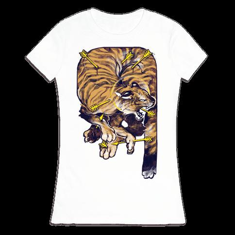 Saint Sebastian Tiger Womens T-Shirt