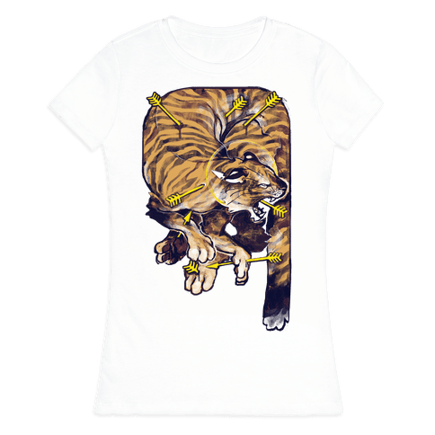 Saint Sebastian Tiger Womens T-Shirt