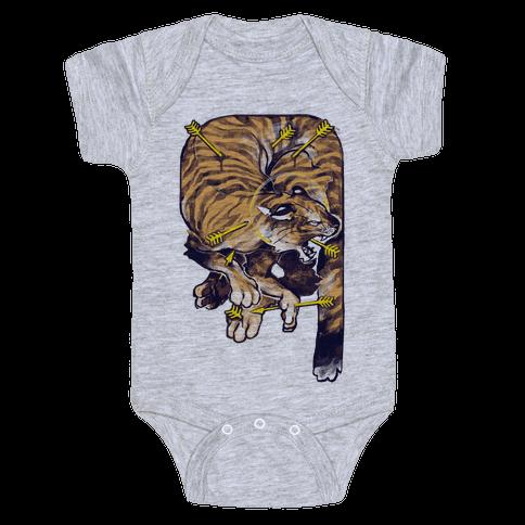 Saint Sebastian Tiger Baby Onesy