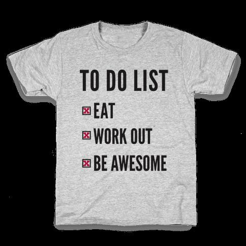 To Do List Kids T-Shirt