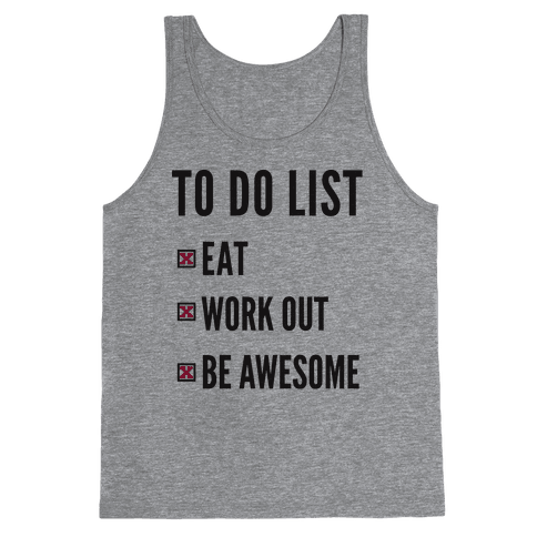 To Do List Tank Top