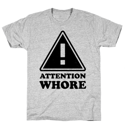 Attention Whore (Neon Tank) Mens T-Shirt