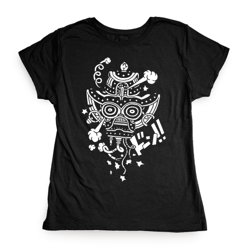 Broken Robot Head Womens T-Shirt