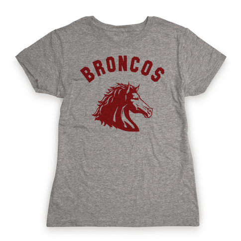 Broncos Red Womens T-Shirt