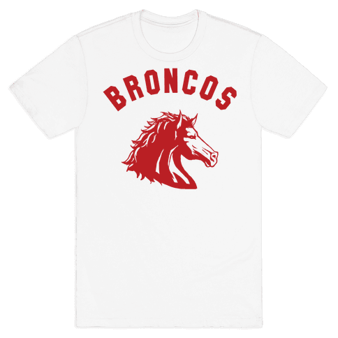 Broncos Red Mens T-Shirt