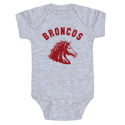 Broncos Red Baby Onesy