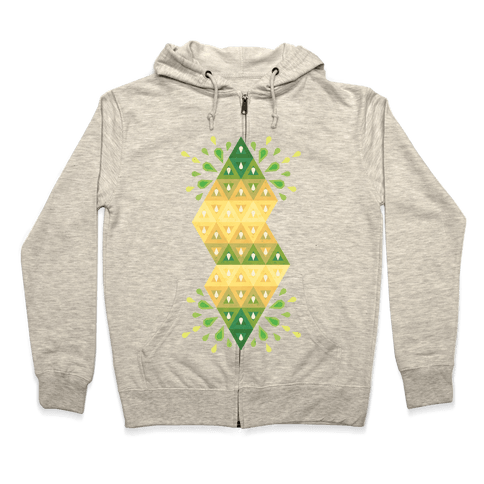 Abstract Summer Seed Garden Zip Hoodie