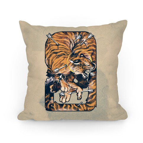 Saint Sebastian Tiger Pillow Pillow