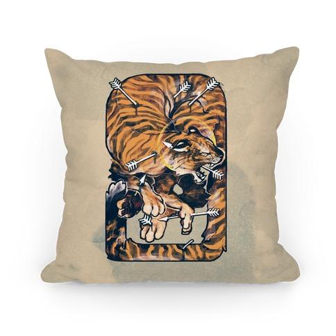 Saint Sebastian Tiger Pillow Pillow