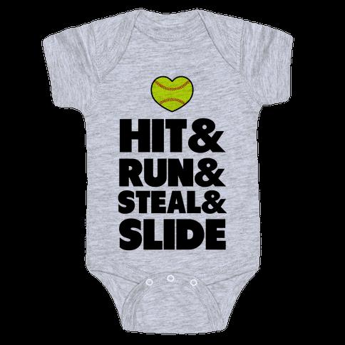 Hit & Run & Steal & Slide Baby Onesy