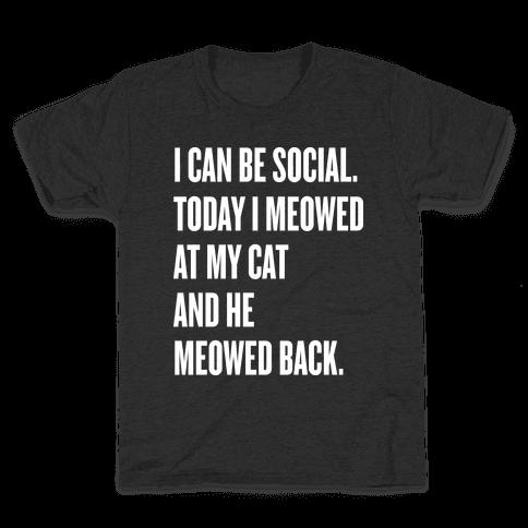 Cat Socialite  Kids T-Shirt