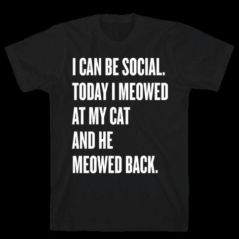 Cat Socialite  Mens T-Shirt