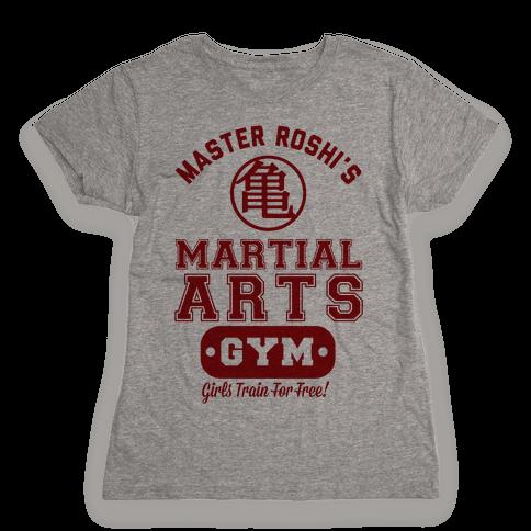 Master Roshi's Martial Arts Gym Womens T-Shirt