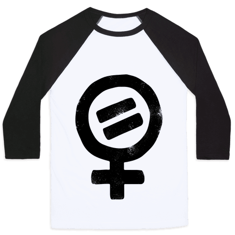 Vintage Women's Rights Logo Baseball Tee