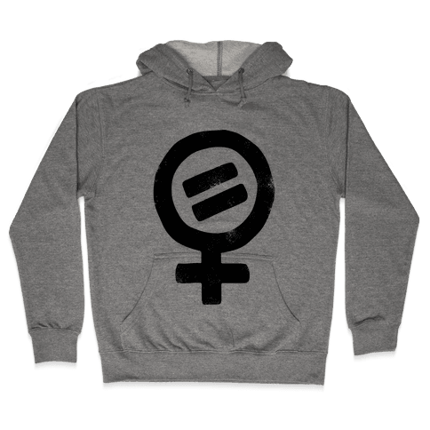 Vintage Women's Rights Logo Hooded Sweatshirt