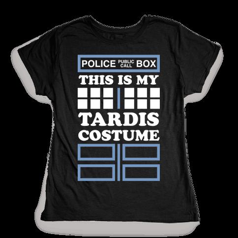 This Is My Tardis Costume Womens T-Shirt