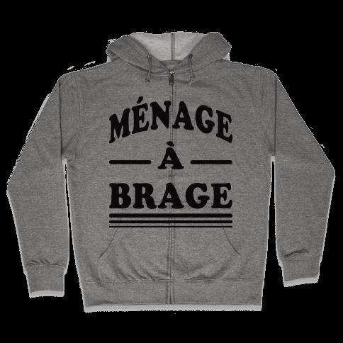 Menage A Brage (Tank) Zip Hoodie