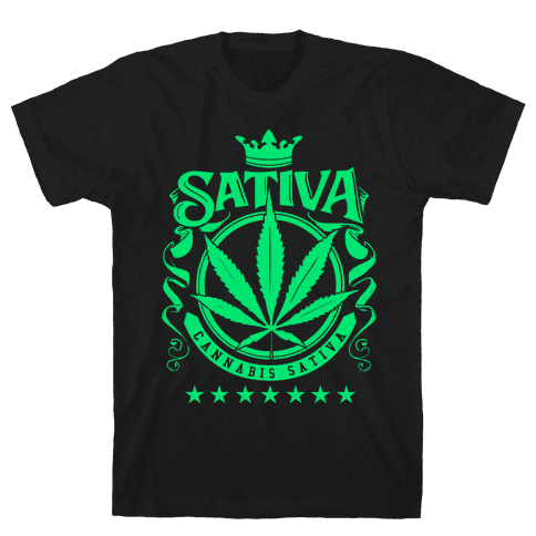 Cannabis Sativa Mens T-Shirt