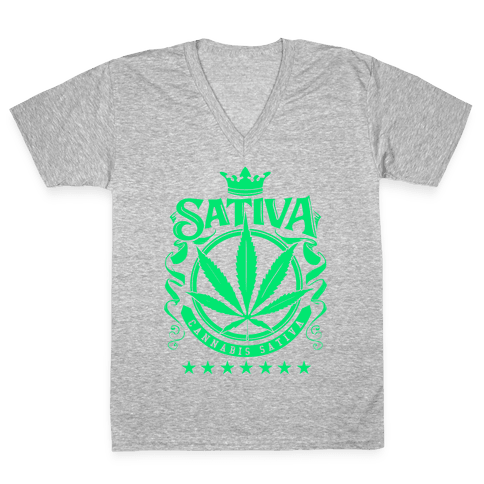 Cannabis Sativa V-Neck Tee Shirt