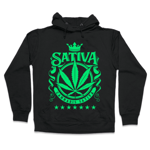 Cannabis Sativa Hooded Sweatshirt