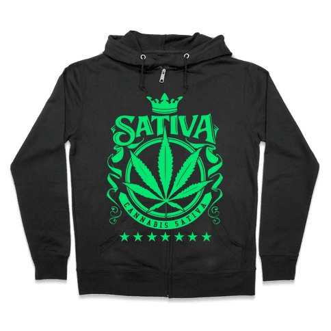 Cannabis Sativa Zip Hoodie