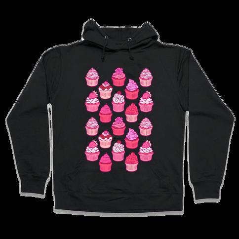 Pretty Pastel Cupcakes Hooded Sweatshirt