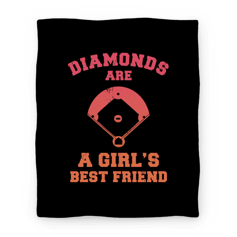 Diamonds are a Girl's Best Friend Blanket Blanket