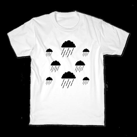Minimalist Rain Clouds Kids T-Shirt