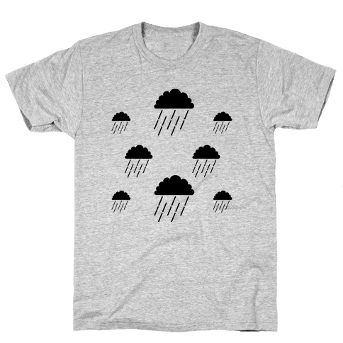 Minimalist Rain Clouds Mens T-Shirt