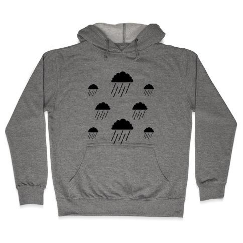 Minimalist Rain Clouds Hooded Sweatshirt