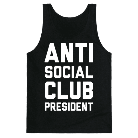 Antisocial Club President Tank Top