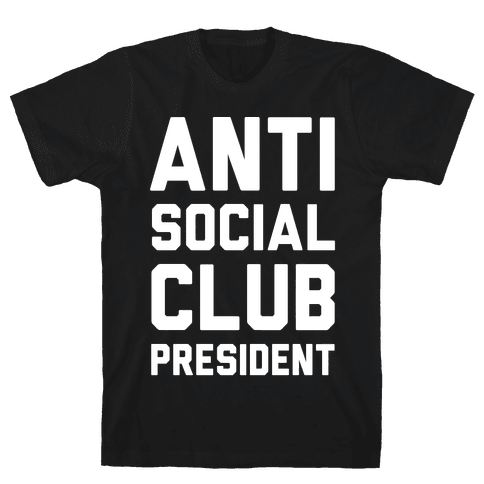Antisocial Club President Mens T-Shirt