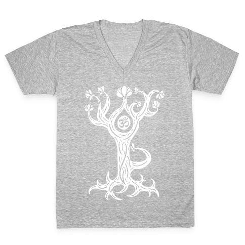 The Tree Pose V-Neck Tee Shirt