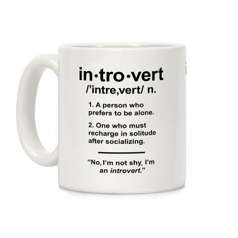 Introvert Definition Coffee Mug