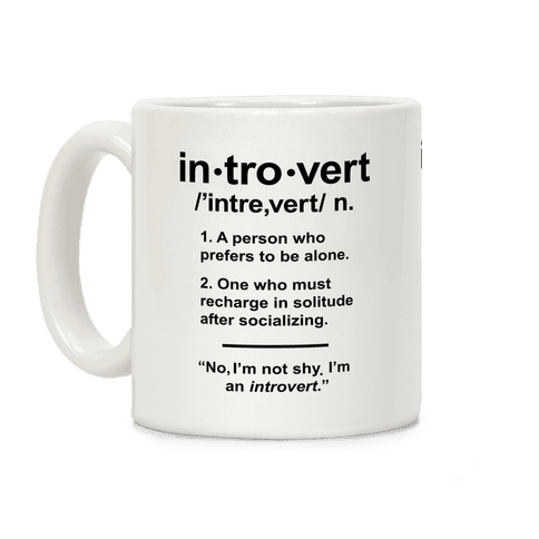 Introvert Definition Coffee Mug