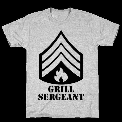 Grill Sergeant Mens T-Shirt