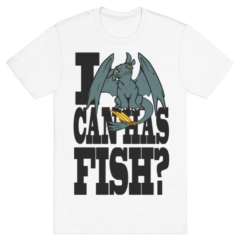 I Can Has Fish? Mens T-Shirt